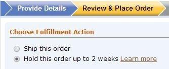 米国Amazonで新たに導入された取り置き機能