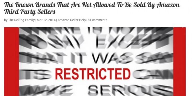 米国Amazonで出品制限のあるブランドの一覧